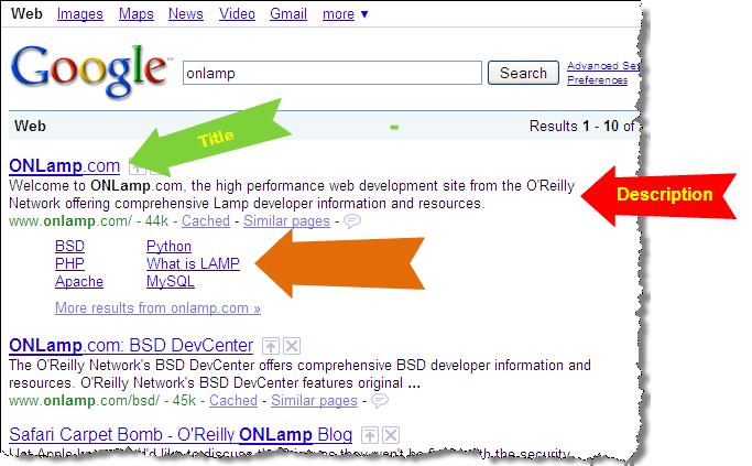 Google Result for onlamp
